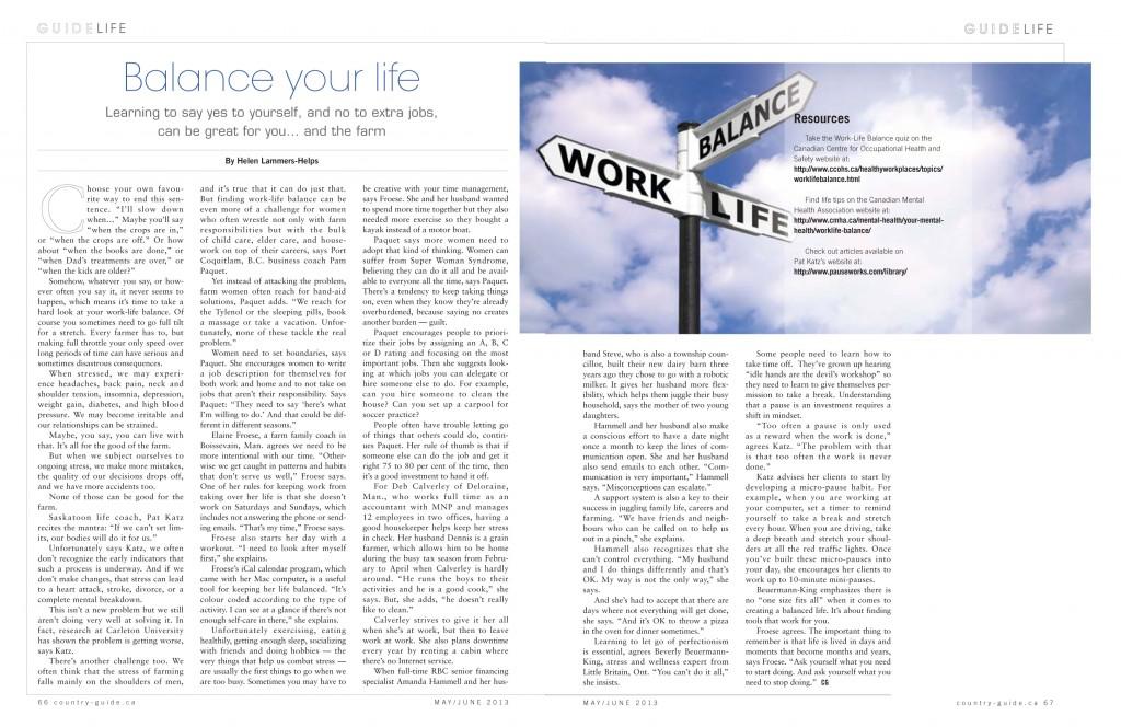 Balance Your Life Website